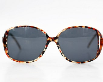 NEW Vintage French Sunglasses / Tortoise Oversized Specs / Womens Sunnies / France - 70s