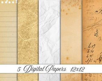 digital paper vintage, vintage paper, digital paper, old paper, antique paper, textures, backgrounds, scrapbook paper