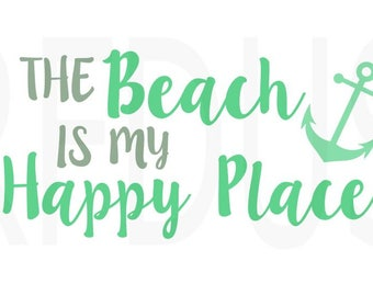 The beach is my happy place svg, Good Times & Tan Lines SVG, Cricut Design SVG, Vector File, Cutting file, Vinyl Cutting File, Beach svg