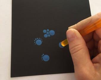 Blank card stock 10 pieces mandala art dot painting dotting craft