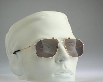 Rodier M159 515, Vintage aviator sunglasses, 80s mens & women unique and rare / NOS