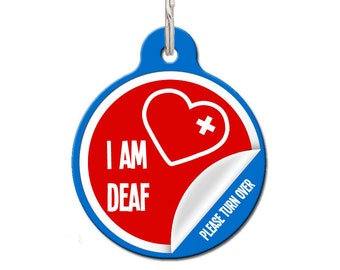 I Am Deaf Medical Pet ID Tag | FREE Personalization