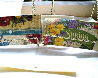 Spring Womens Wallet, Appreciation Gift, Snap Wallet, Water Resistant Cover, 7 Inch, Hand Stitched, Ready to Ship