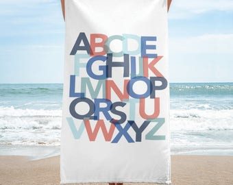 Alphabet Kids Beach Towel