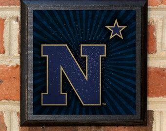 US Navy Seals N Star Logo Wall Art Sign Plaque Gift Present Home Decor Vintage Style USNA Sailor Naval Academy Forged By The Sea Classic