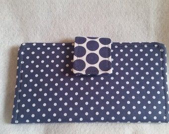 Navy Polka-Dotted Wallet