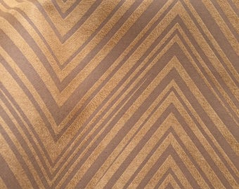 Faux Leather, Fabric, Upholstery, Vinyl, Golden Chevron