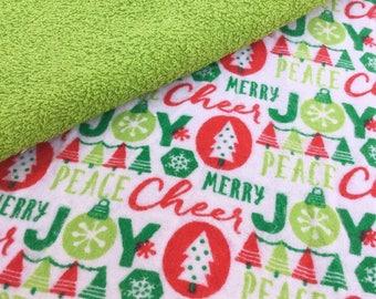 Kid's Napkins / Small Napkins / Cloth Wipes / Lunchbox Napkins / Reusable Napkins / Family Cloth / Flannel Napkins, Set of 10 Christmas