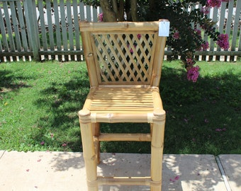 Bamboo Stool with Back