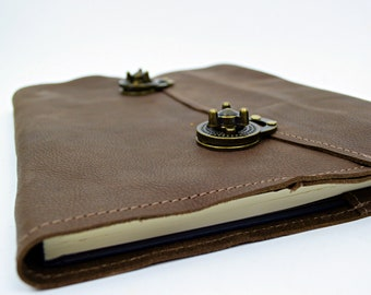 Executive nachfüllbar Lederbuch-dunkle Distressed Leder ausblenden