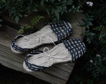 ESPADRILLES/ sandals/ summer shoes/ alpargatas/ woven sandals/handmade sandals