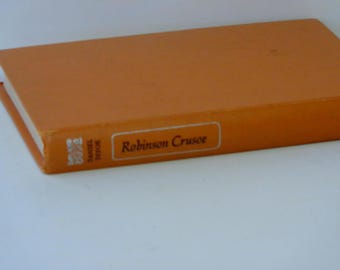 Robinson Crusoe  Daniel Defoe  Children's Classics Doubleday 1945  Fritz Kredel  Young Readers  Antique Hardcover Illustrated Fiction Book