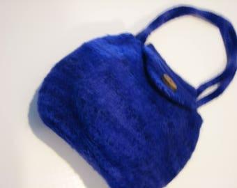 Hand knit felted Linda Bag