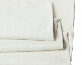 "SALE - Ivory Color - Heavy Cotton/Linen Fabric - 63"" x 1 yard - Great for bags!"