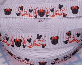 Minnie Mouse Silhouette Grosgrain Ribbon 7/8 inch wide, 5 Yards