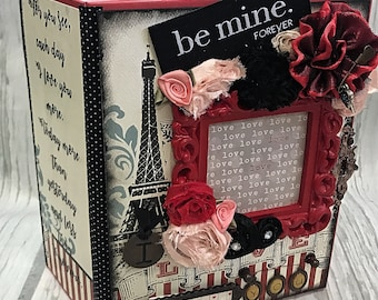 LOVE All Occasion Interactive Scrapbook Scrapbooking Chipboard Album Magnet Closures