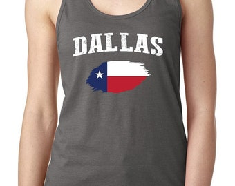 Dallas Texas Women Tops Next Level Racerback Tank Top