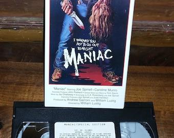 Maniac Vintage VHS Movie Cassette Tape