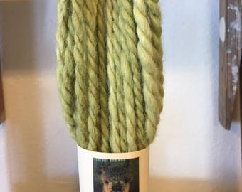 Pure Alpaca Limeade Green Bulky Weight Yarn from Wide Sky Ranch, Santa Fe, NM