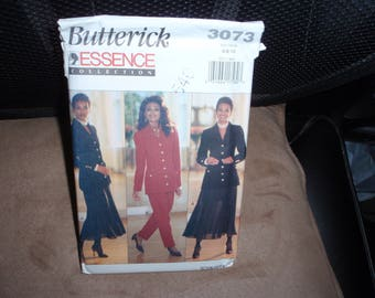 Butterick 3073 Essence Collection Misses' Jacket, Skirt, Slip, Pants  Size 6 to 10  New Uncut