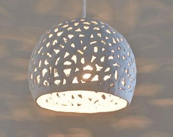 Light pendant. Ceramic hanging light. Ceiling light. Hanging lamp shade.