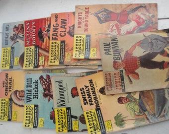 Classic Illustrated Magazines Set of 9
