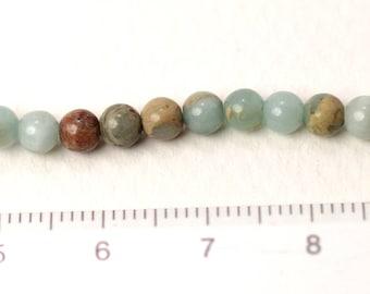impression jasper 4mm round beads/G-0121