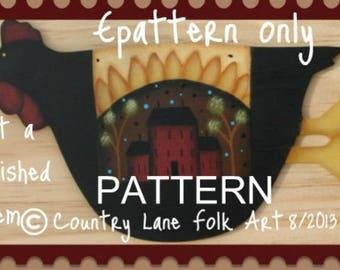 Painting epattern, chicken painting pattern, fall painting patterns, primitive painting pattern, tole painting pattern, folk art pattern,