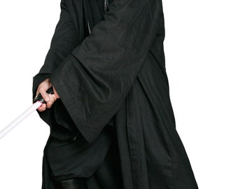 Star Wars Sith / Jedi Robe ONLY - Black - Replica Star Wars Costume