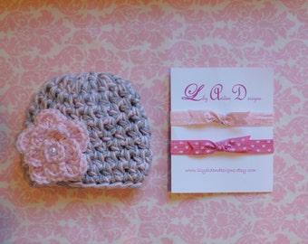 Hat and headband set/ Baby hat/ Newborn headband/ Baby headband