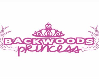 Backwoods Princess / Country Girl / dirty trucks / vehicle decal / vinyl graphic art / auro window sticker