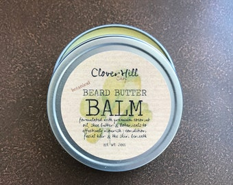 Java Earth Beard Balm, Beard Butter, Conditioner, Softener, Dry Skin Treatment, Men's Facial Care & Grooming, 2oz