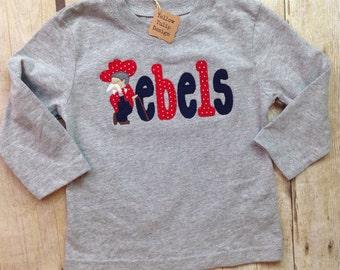 Ole Miss Rebels Personalized Bodysuit, Burp Cloth, Bib, Baby Boy Mississippi Football