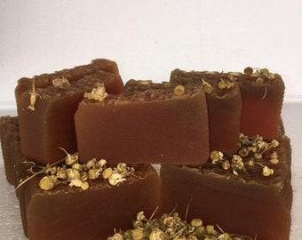Aloe Vera, Honey, and Chamomile Handmade Organic Soap