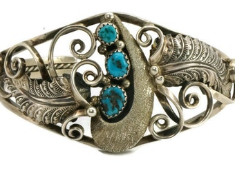 Morenci Turquoise & Sterling Silver Cuff Bracelet