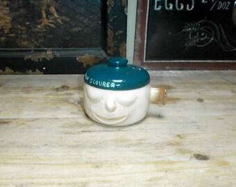small sauce pan, >pan scourer</Sylvac/Vintage/Pottery/British