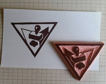 Letterboxing Hand Carved Rubber Stamp