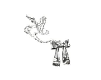 SALE mini ribbon bow pendant