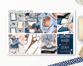 Planner Stickers Work Hard Full Box for Erin Condren, Happy Planner, Filofax, Scrapbooking