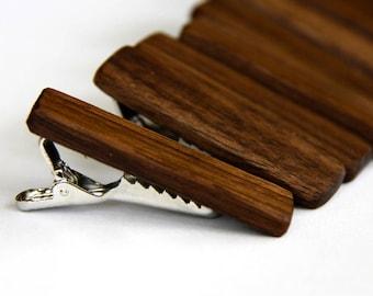walnut tie bar - short for skinny ties