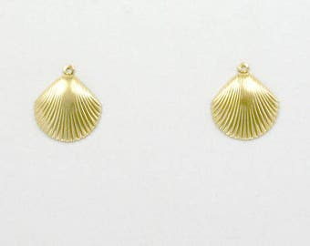 14k Gold Filled Seashell Charms, Set of 2 - stc-GF111