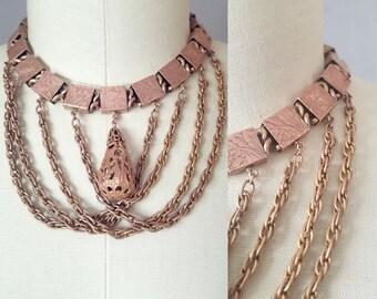 Collier guirlande versi | des années 1800 collier antique | Collier Victorien bookchian
