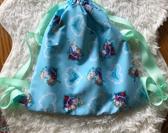 Kids custom frozen drawstring backpack, frozen, anna, elsa, disney