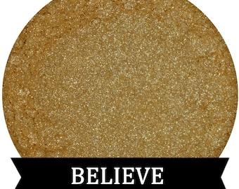 Shimmery Gold Eyeshadow Hilight BELIEVE