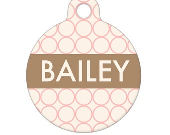Personalized Pet ID Tag - Bailey Custom Name Pet Tag, Dog Tag, Cat Tag