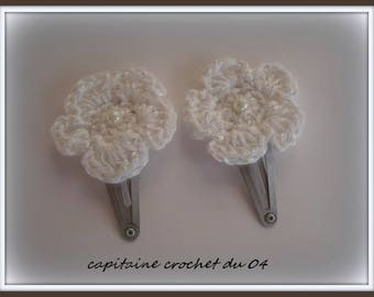 Two hair clips/clip/hair clip little girl/clips girl/hair flower/flower/flower/girl/clips clips clips clips