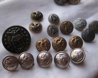 American Eagle Uniform Buttons 17 lot