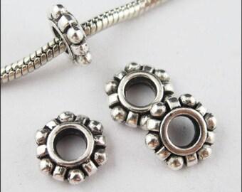 160/1400pcs Tibetan Silver Charm Snowflake Spacer Beads DIY Craft Jewelry Making