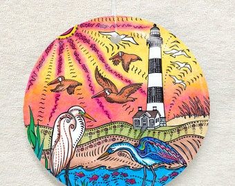 Bodie Island Lighthouse Ornament and Suncatcher