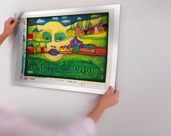 Modern Wall Art Picture hundertwasser Abstract Figure Painting Art Canvas Print Oil Painting Home Decor No Frame